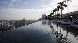 Body of water, Nature, Daytime, Urban area, Architecture, Property, Atmosphere, Infrastructure, Water resources, City,