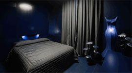 Blue, Product, Bed, Room, Property, Floor, Textile, Interior design, Photograph, Wall,