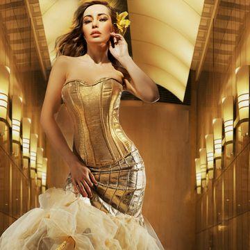 Beauty, Fashion, Gown, Waist, Model, Fashion model, Cg artwork, Strapless dress, Embellishment, Abdomen,