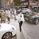 Motor vehicle, Tire, Wheel, Mode of transport, Automotive design, Land vehicle, Vehicle, People, Road, Car,