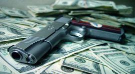 Gun, Firearm, Photograph, Trigger, Black, Grey, Air gun, Paper product, Gun accessory, Snapshot,