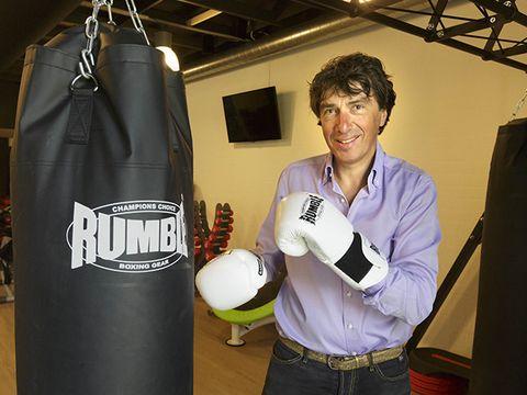 Punching bag, Boxing, Sports equipment, Boxing glove,