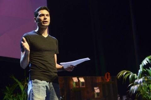 Standing, Elbow, Denim, Public speaking, Speech, Stage, Orator, Presentation, Spokesperson, Arecales,