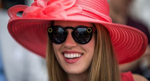 Eyewear, Sunglasses, Facial expression, Hat, Glasses, Pink, Smile, Lip, Cool, Fashion accessory,