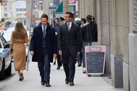 Standing, Urban area, White-collar worker, Pedestrian, Suit, Businessperson, Street, Event, City, Sidewalk,