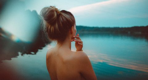 Hair, Water, Sky, Skin, Shoulder, Photograph, Beauty, Light, Hairstyle, Summer,