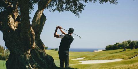 Golfer, Golf, Professional golfer, Golf club, Golf equipment, Match play, Golf course, Fourball, Sand wedge, Sport venue,