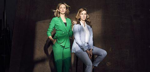 Green, Fashion, Suit, Formal wear, Fun, Fashion design, Outerwear, Photography, Pantsuit, Performance,