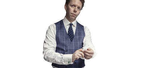 Finger, Suit, Arm, Tie, Gesture, White-collar worker, Thumb, Hand, Businessperson, Formal wear,