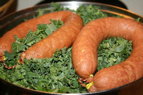 Food, Dish, Cuisine, Sausage, Mettwurst, Ingredient, Vienna sausage, Frankfurter würstchen, Diot, Kielbasa,