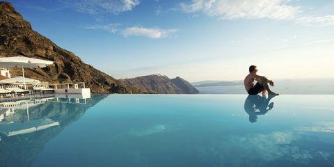 Sky, Leisure, Swimming pool, Sea, Fun, Tourism, Vacation, Ocean, Coastal and oceanic landforms, Travel,