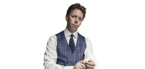 Tie, Suit, White-collar worker, Formal wear, Outerwear, Hand, Gesture, Businessperson, Neck, Uniform,