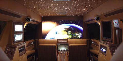 Brown, Interior design, Ceiling, Space, Tan, Aerospace engineering, Design, Luxury vehicle, Aircraft, Air travel,