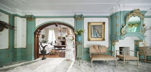 Room, Furniture, Interior design, Green, Property, Turquoise, Building, Living room, Architecture, Wall,