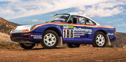 Land vehicle, Vehicle, Racing, Car, Motorsport, Auto racing, Rallycross, Regularity rally, Porsche 959, Sports car,
