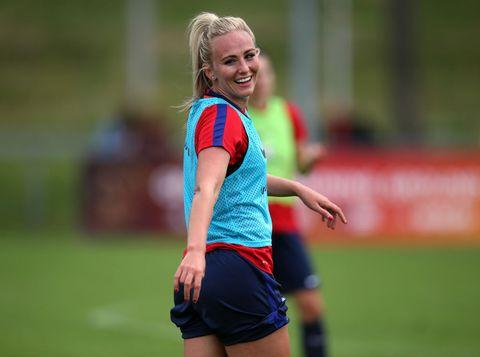 Sports, Team sport, Athlete, Ball game, Grass, Player, Sports training, Blond, Women's football, Soccer,