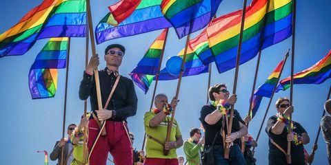 Eyewear, Colorfulness, Sunglasses, Festival, Flag, Parade, Rope,
