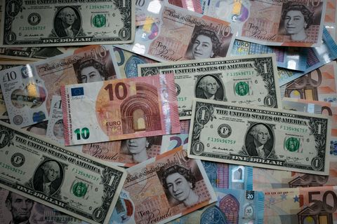 Money, Cash, Currency, Banknote, Dollar, Saving, Money handling, Collection, Paper, Paper product,