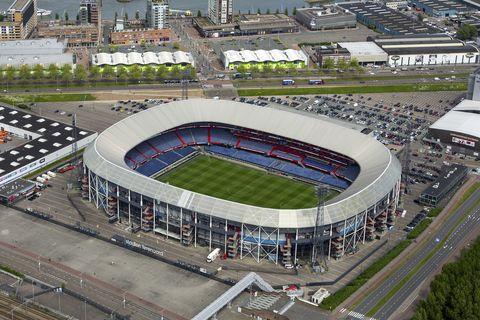Sport venue, Stadium, Arena, Soccer-specific stadium, Bird's-eye view, Metropolitan area, Architecture, Aerial photography, Urban area, Landscape,