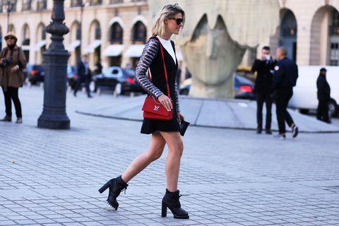 Black, Street fashion, White, Photograph, Fashion, People, Street, Footwear, Snapshot, Beauty,
