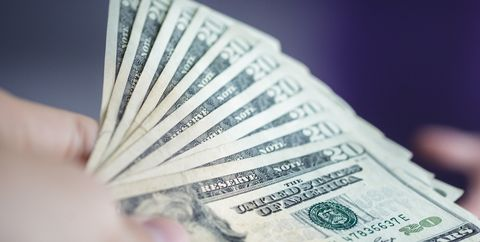 Cash, Money, Currency, Banknote, Dollar, Saving, Money handling, Paper, Font, Stock photography,