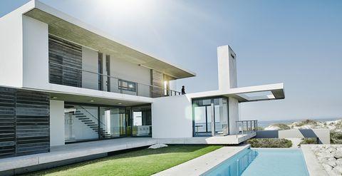 House, Property, Home, Architecture, Building, Residential area, Real estate, Interior design, Facade, Villa,