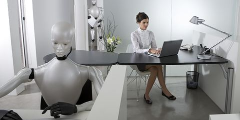 Office, Furniture, Desk, Table, Interior design, Design, Office chair, Material property, Employment, White-collar worker,