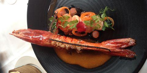 Food, Ingredient, Orange, Garnish, Dish, Seafood, Produce, Meat, Marine invertebrates, Vegetable,