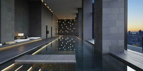Architecture, Building, Wall, Interior design, Floor, Room, Tile, Lobby, House, Space,