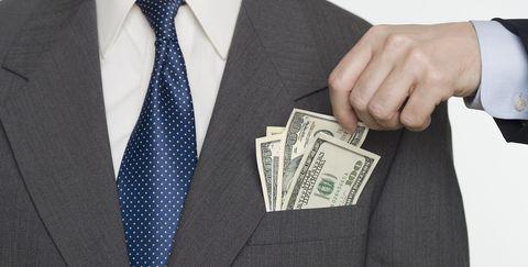 Suit, Tie, Formal wear, Money, Cash, Design, Pattern, Paper, Fashion accessory, Blazer,
