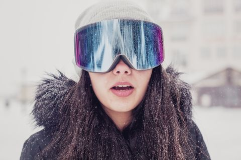 Eyewear, Hair, Face, Glasses, Cool, Sunglasses, Lip, Purple, Beauty, Head,