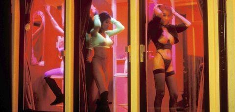 Room, Dance, Lingerie, Magenta, Event, Performance, Go-go dancing, Abdomen, Pole dance, Thigh,
