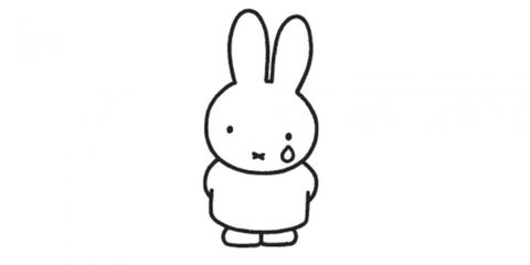 White, Face, Line art, Nose, Cartoon, Rabbit, Finger, Black, Facial expression, Rabbits and Hares,