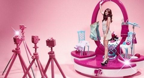 Pink, Barbie, Doll, Magenta, Material property, Illustration, Toy, Animation, Graphic design, Fashion design,