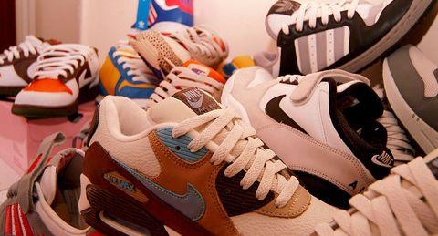 Shoe, Footwear, Sportswear, White, Orange, Sneakers, Brown, Walking shoe, Outdoor shoe, Athletic shoe,