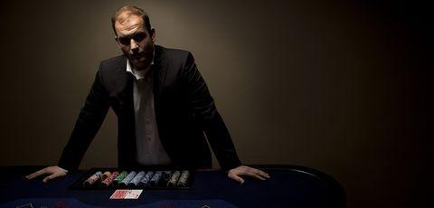 Games, Poker, Gambling, Suit, Table, Sitting, Recreation, Eyewear, Facial hair, Card game,