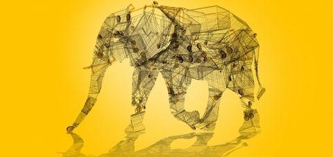Illustration, Art, Sketch, Drawing, Elephant, Organism, Elephants and Mammoths, Machine, Fictional character,