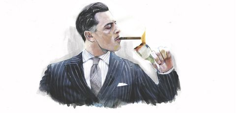 Smoking, Illustration, Bartender, Waiting staff, Drinking,