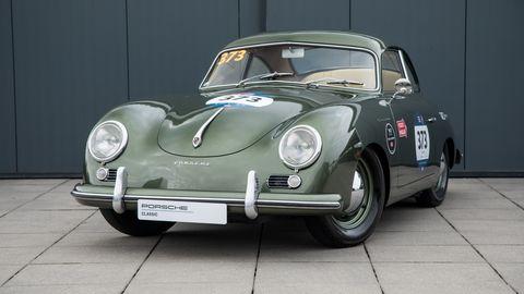 Land vehicle, Vehicle, Car, Classic car, Porsche 356, Regularity rally, Coupé, Antique car, Subcompact car, Sedan,