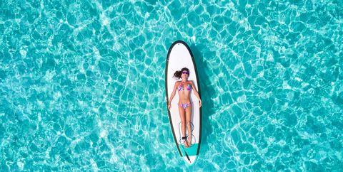 Blue, Aqua, Surfboard, Surfing Equipment, Summer, Turquoise, Recreation, Ocean, Vacation, Surfing,