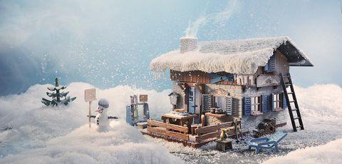 Winter, Snow, Freezing, Ski resort, Hill station, Blizzard, Illustration, Frost, Winter storm, Ice,
