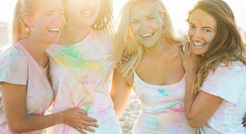 Facial expression, Skin, Friendship, Fun, Happy, Smile, Leisure, Blond, Summer, Child,