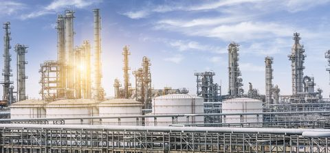 Industry, Factory, Architecture, Project, Building, City, Power station, Public utility, Metropolis, Construction,