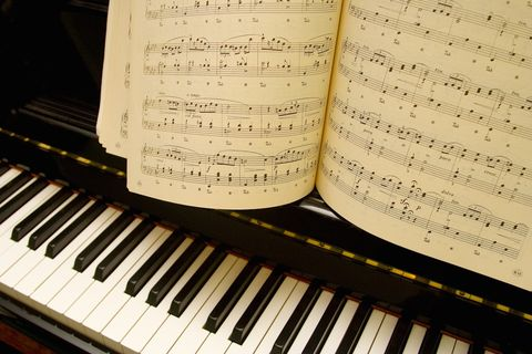 Musical instrument, Keyboard, Music, Musical instrument accessory, Text, Organ, Sheet music, Black, Piano, Classical music,