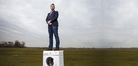 Standing, Technology, Grassland, Electronic device,