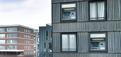 Architecture, Property, Building, Facade, House, Neighbourhood, Apartment, Urban area, Real estate, Window,