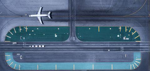 Line, Airplane, Runway, Aircraft, Vehicle, Metal,