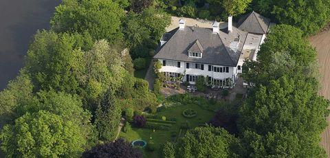 Estate, Natural landscape, Property, House, Mansion, Home, Cottage, Mountain village, Building, Aerial photography,