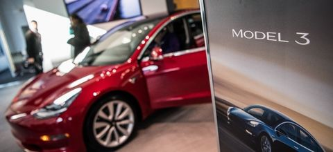 Land vehicle, Vehicle, Car, Automotive design, Mid-size car, Auto show, Personal luxury car, Alloy wheel, Tesla model s, Tesla,