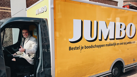Vehicle, Transport, Yellow, Advertising, Car, Graphics, Food truck, Brand, Commercial vehicle, Truck,